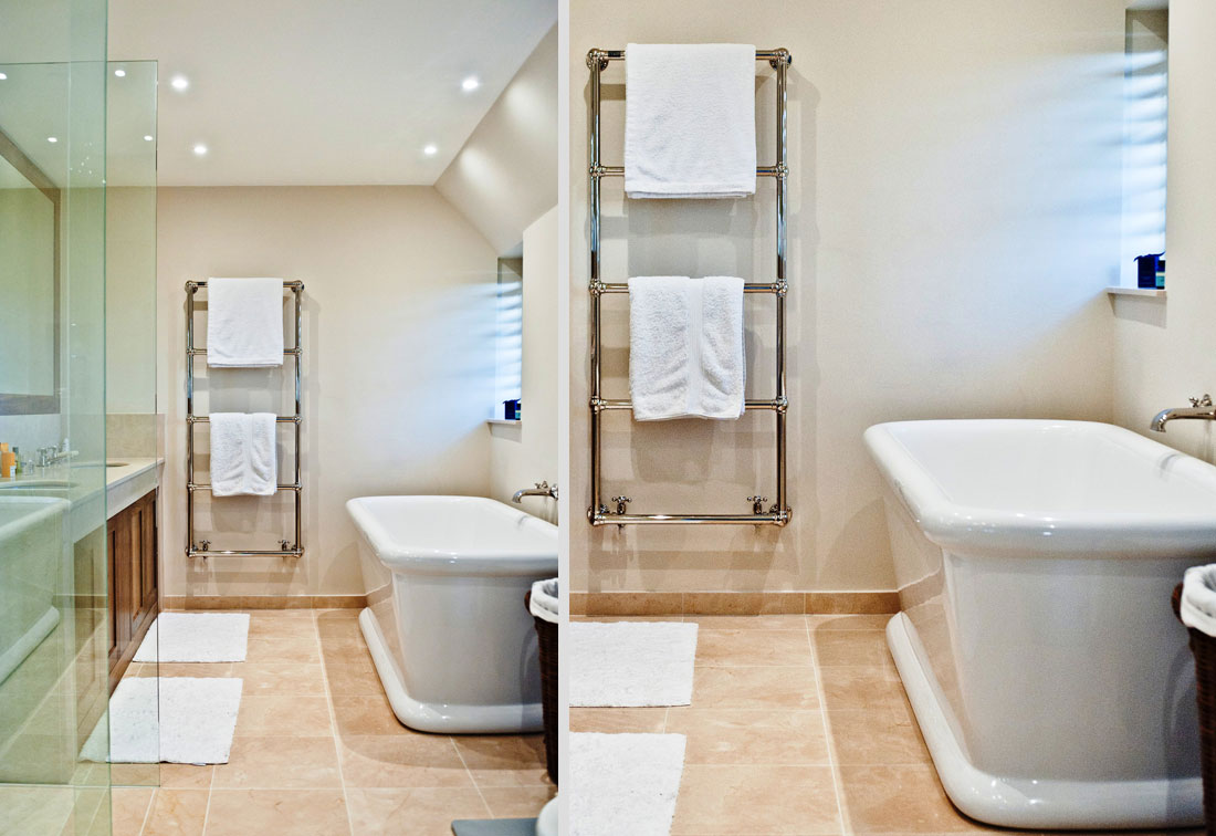 Luxury bathroom in arts and crafts Wimbledon home