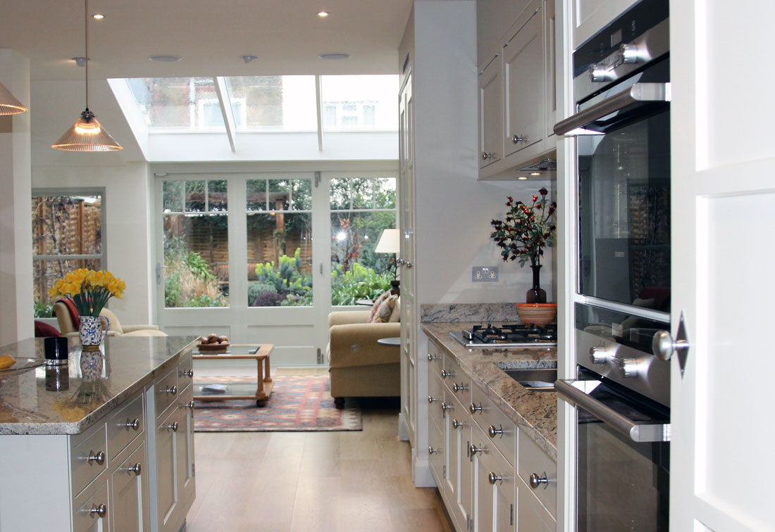 Interior design of a kitchen in West London