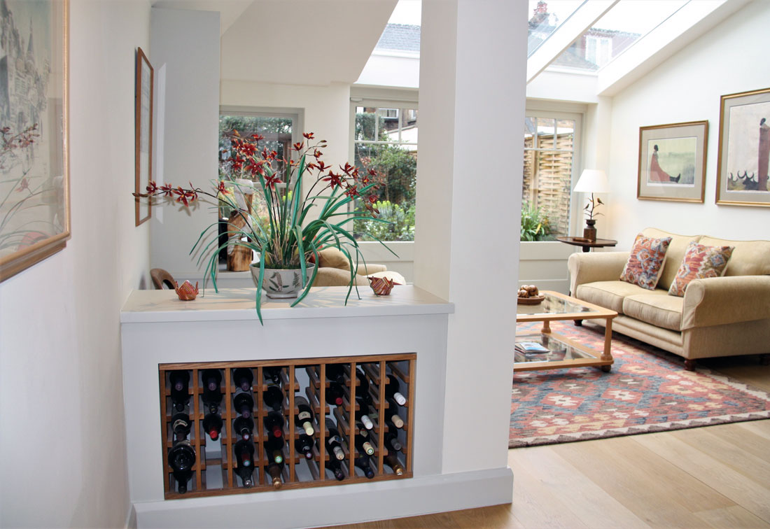 View into the living room in Fulham
