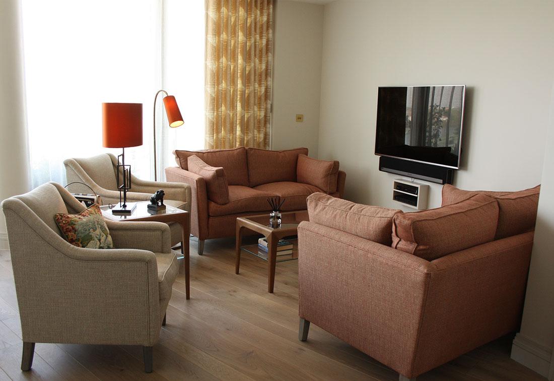 London riverside living room interior design