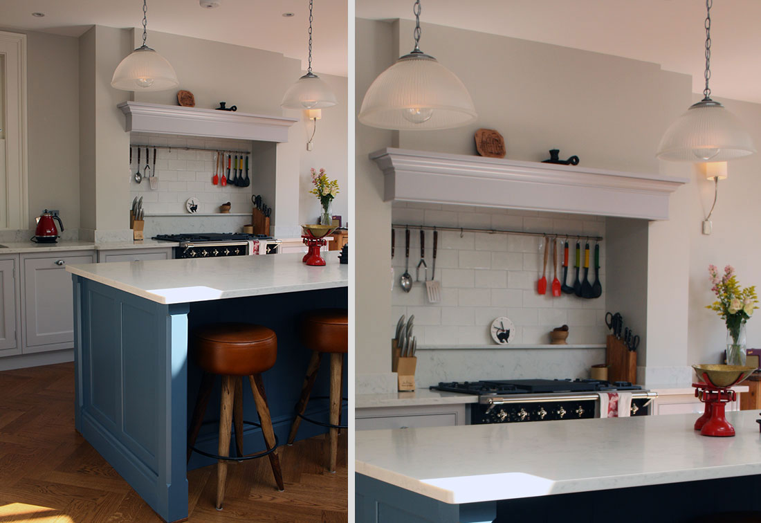 Bespoke interior design of a kitchen in a London house