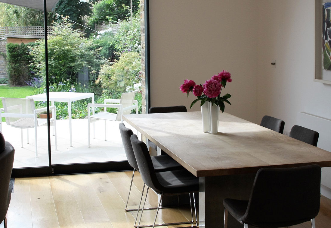 East Putney contemporary dining room