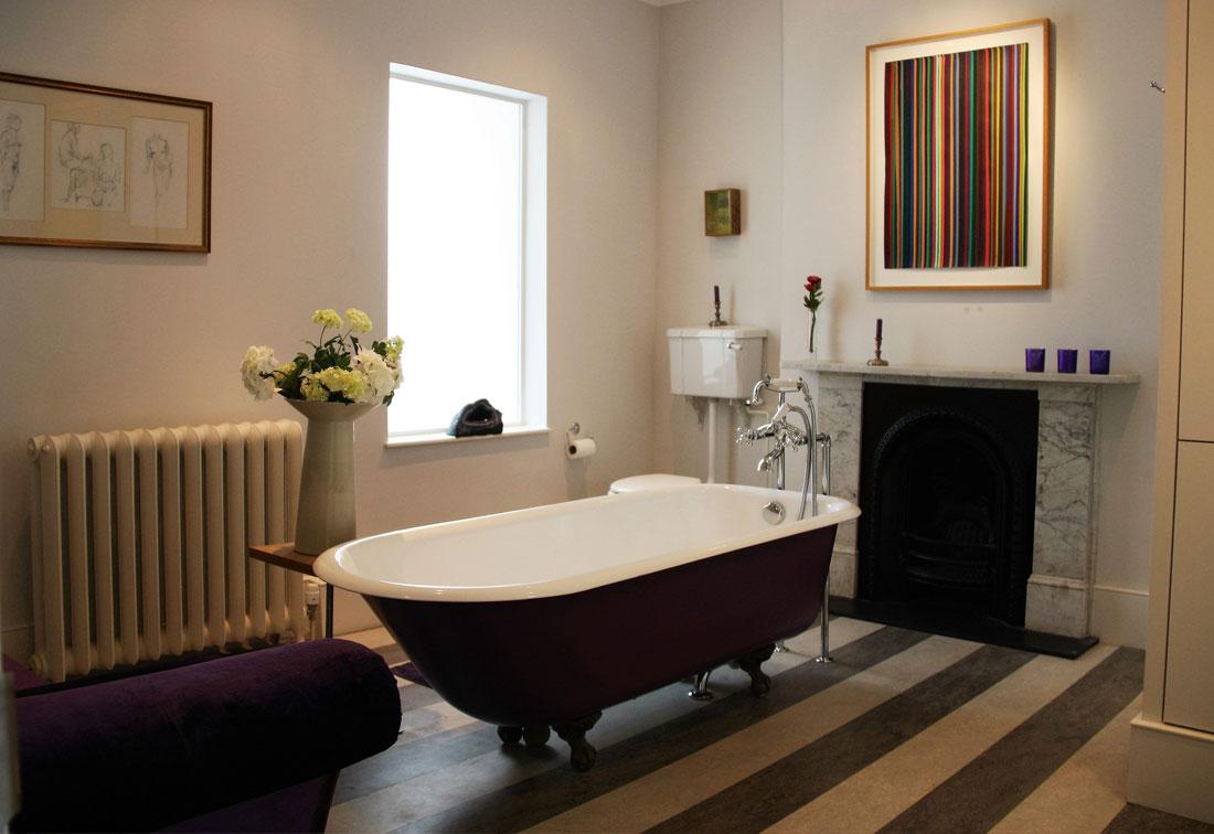 East Putney bathroom with rolltop bath