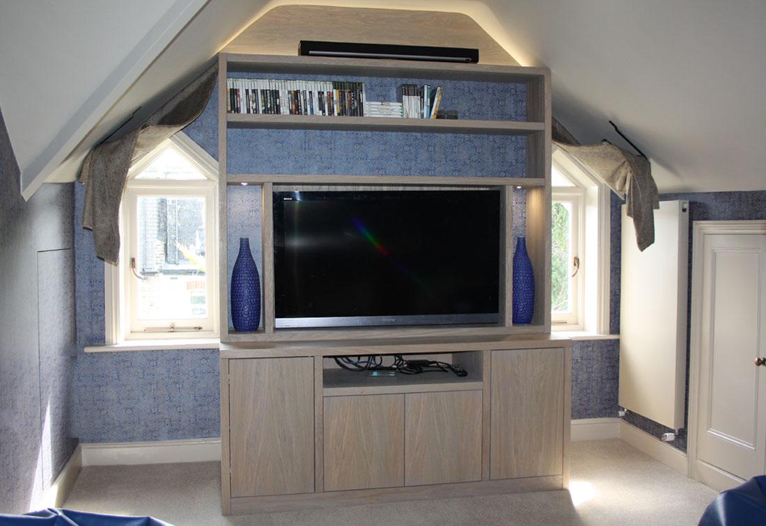 Attic space interior design West London