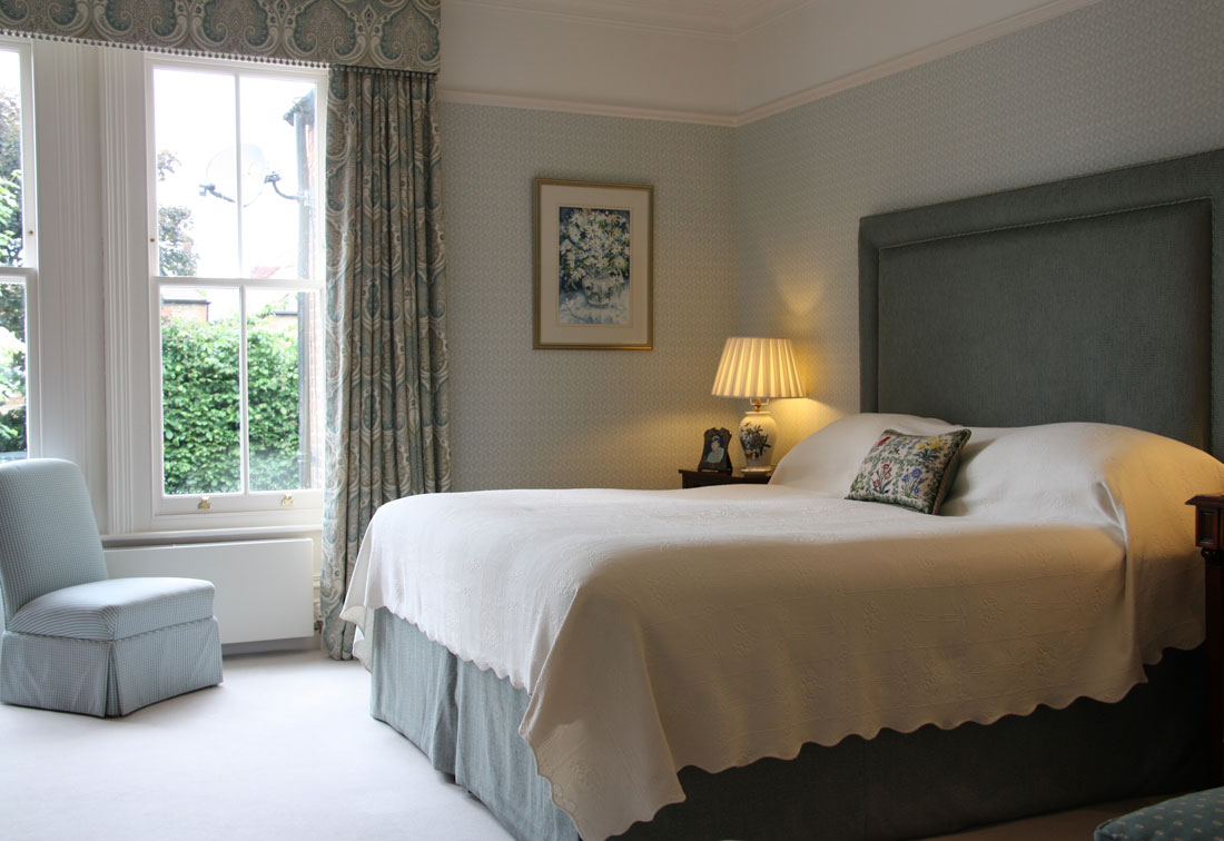 South West London classic interior design bedroom