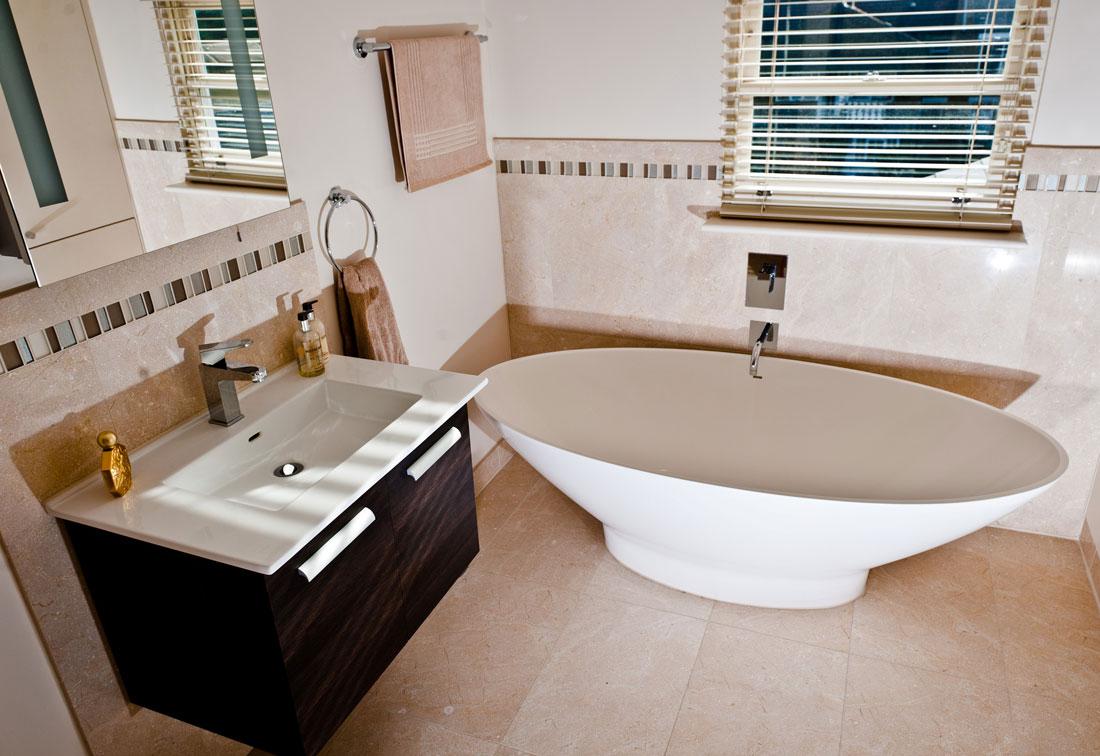 Tiled bathroom in Earlsfield house
