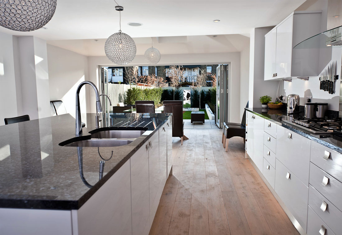 Contemporary kitchen in Earlsfield house