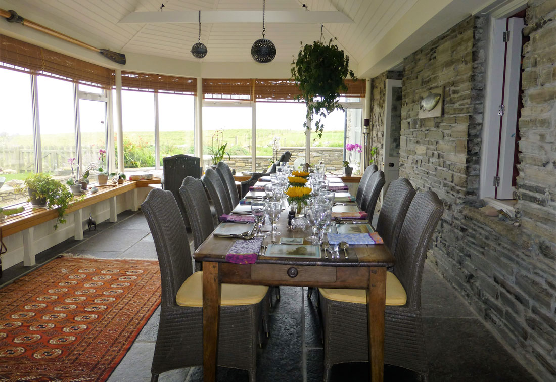Orkney, Scotland - dining area