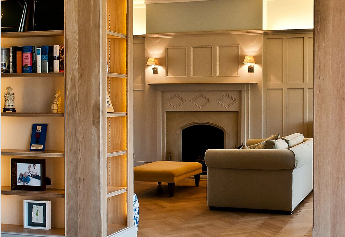 Wood panelling in arts and crafts Wimbledon home