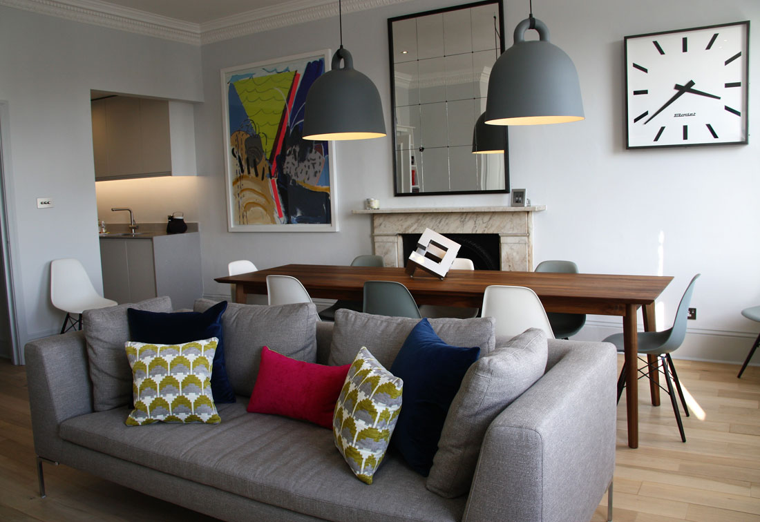 Contemporary interior design in Notting Hill
