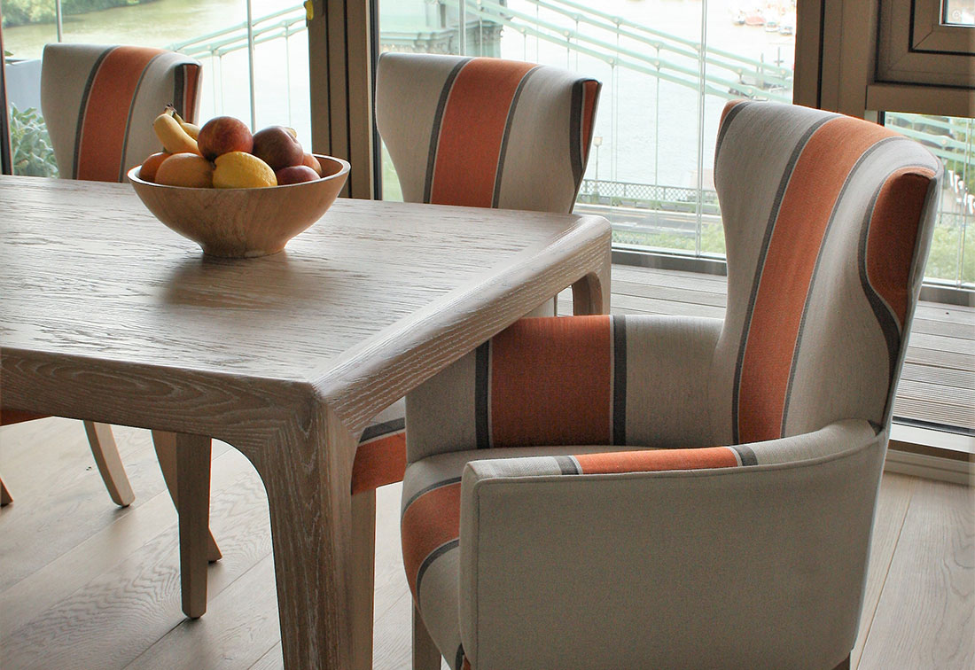 London riverside dining room interior design