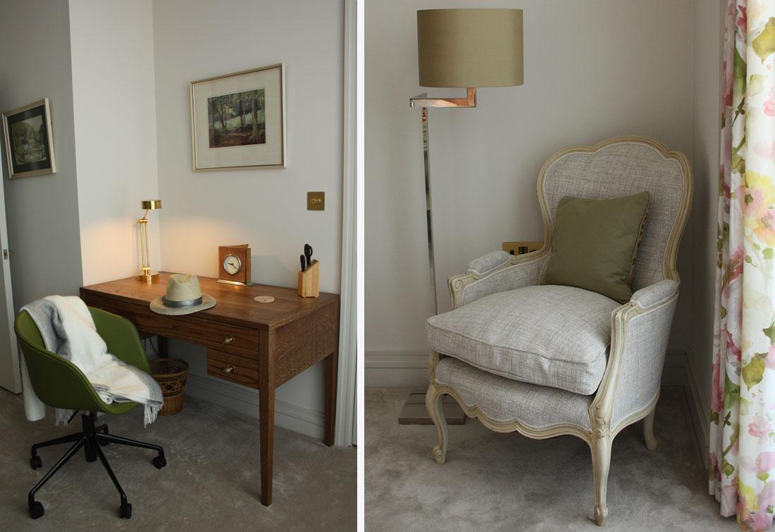 London riverside bedroom interior design