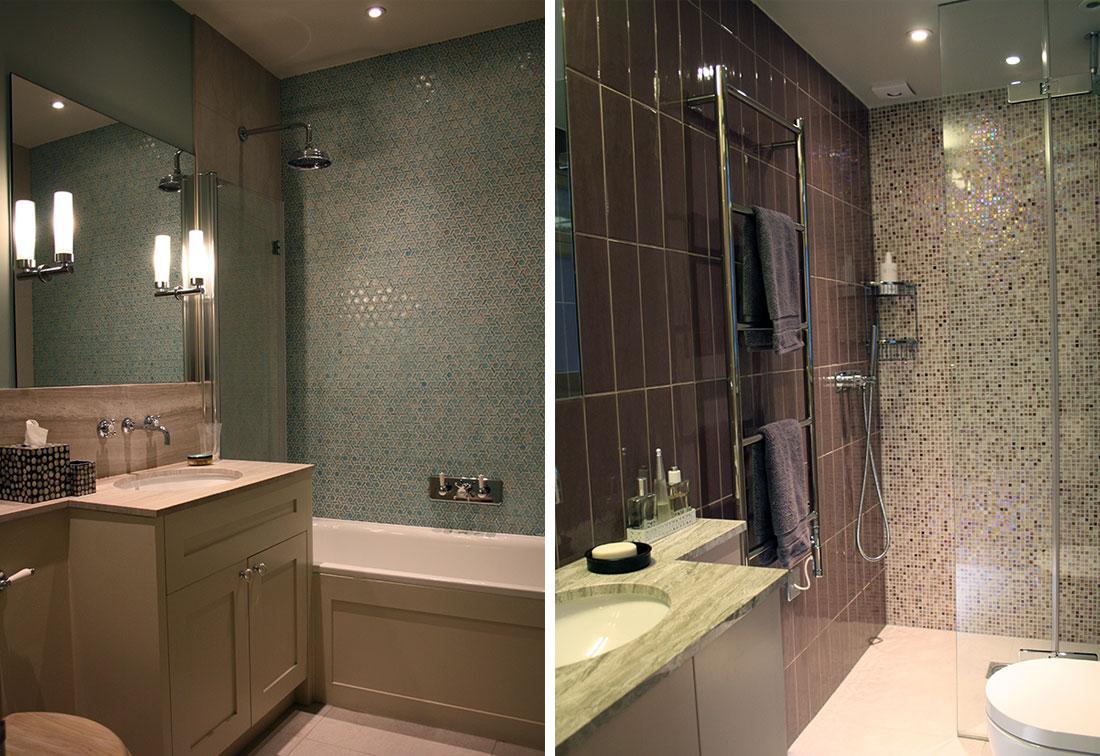 Interior design of bathroom in Kensington, London
