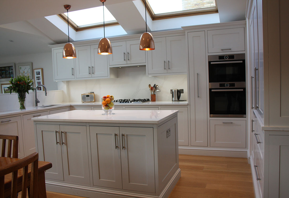 Bespoke interior design of kitchen in London